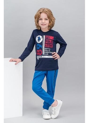 U.S. Polo Assn. U.S. Polo Assn Lisanslı Lacivert Erkek Çocuk Pijama Takımı Lacivert